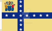 New Jersey State Flag Proposal No. 12 Designed By DesertStormVet 30 MAY 2015 at 0911 HRS CST