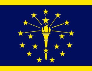 Indiana State Flag Proposal No 3 Designed By Stephen Richard Barlow 18 AuG 2014 at 1321hrs cst
