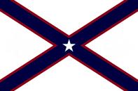 Alabama State Flag Proposal St Andrews Cross Concept 5pt Republic Star Centered over Dark Blue over Crimson Cross Designed By Stephen Richard Barlow 28 July 2014