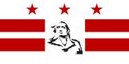 Washington DC Flag Proposal No 1 Designed By Stephen Richard Barlow 16 AuG 2014 at 1629 HRS CST