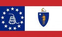 Massachusetts State Flag Proposal No 4b Designed By Stephen Richard Barlow 08 NOV 2014 at 0834hrs cst