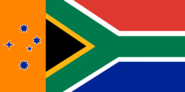 New South African Flag with Orange side and Southern Cross