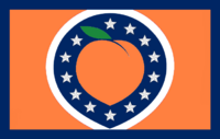 Georgia State Flag Proposal No 41d Design By AlternateUniverseDesigns Remix Color Edit By Stephen Richard Barlow 26 NOV 2014 at 1121 hrs cst