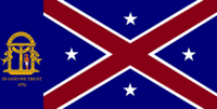 Georgia State Flag Proposal No 13 Designed By Stephen Richard Barlow 25 AuG 2014 at 1645hrs cst