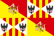 Scicilian Flag in the Style of Maryland (Proposed Independent Sicily flag)