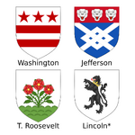 Coats of arms of Mount Rushmore presidents