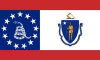 Massachusetts State Flag Proposal No 4 Designed By Stephen Richard Barlow 14 AuG 2014 at 0801hrs cst