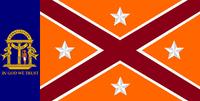 Georgia State Flag Proposal No 20b Designed By Stephen Richard Barlow 24 NOV 2014 at 1229 hrs cst