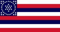 Hawaii State Flag Proposal with Credit to Dave B Martucci No 5a By Stephen Richard Barlow OCT 2014