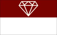 The Gem of the Mountains Garnet Flag
