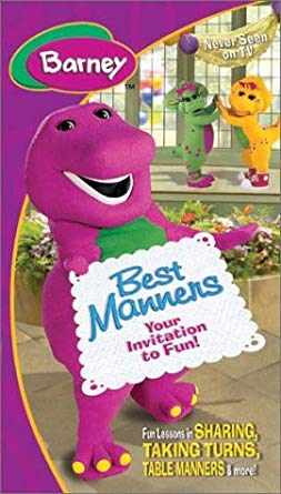 Barney's Best Manners: Your Invitation to Fun VHS 2004