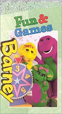 Barney's Fun & Games VHS 2002 (2004 Reprint)