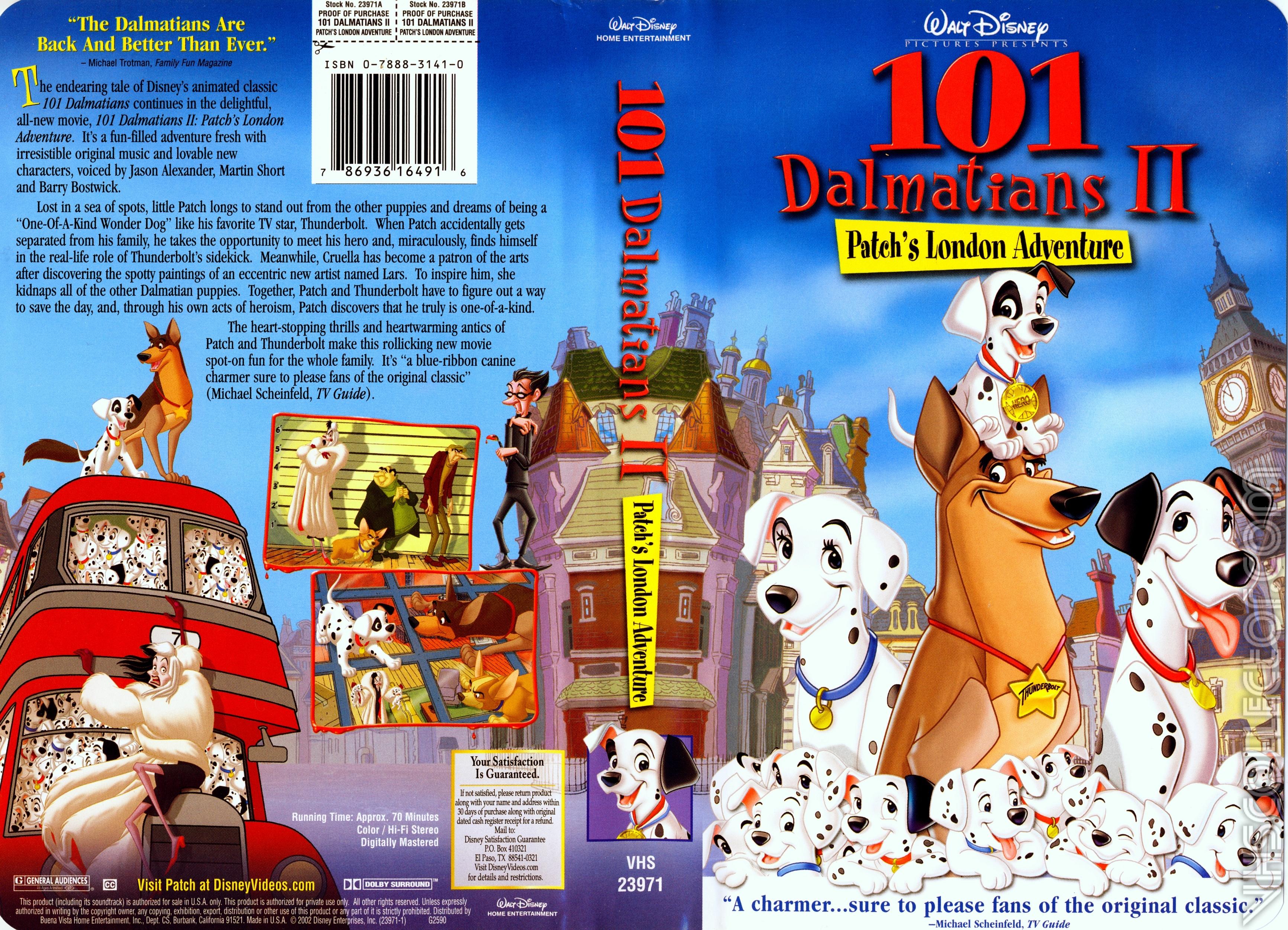 101 Dalmatians II: Patch's London Adventure VHS 2003