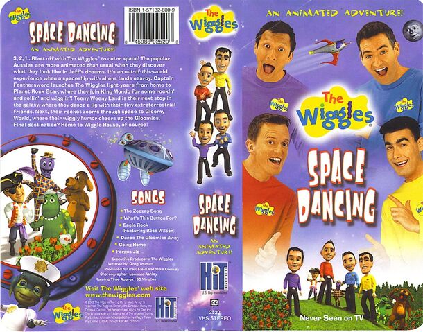 The Wiggles: Space Dancing VHS 2004