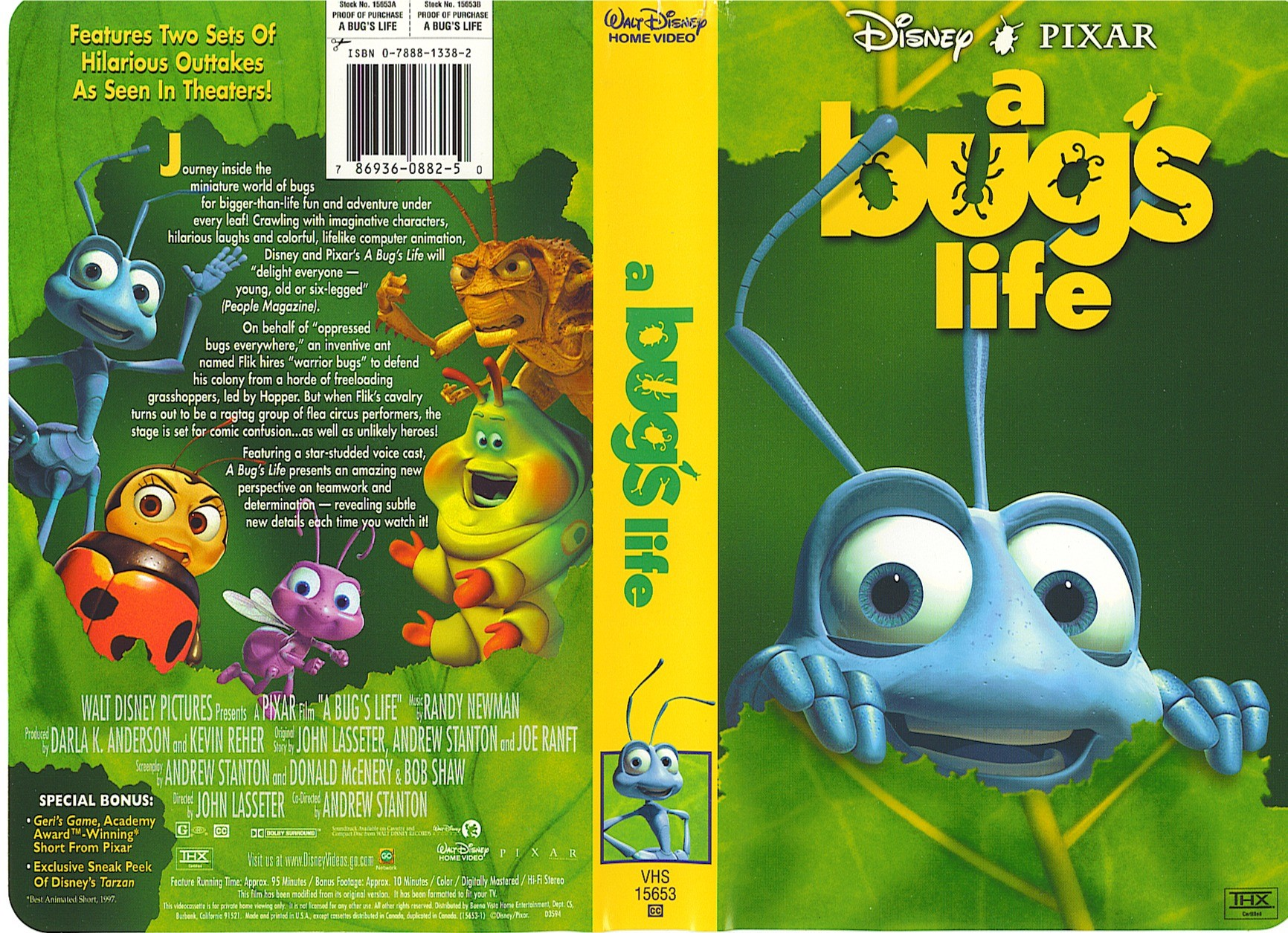 A Bug's Life VHS 1999