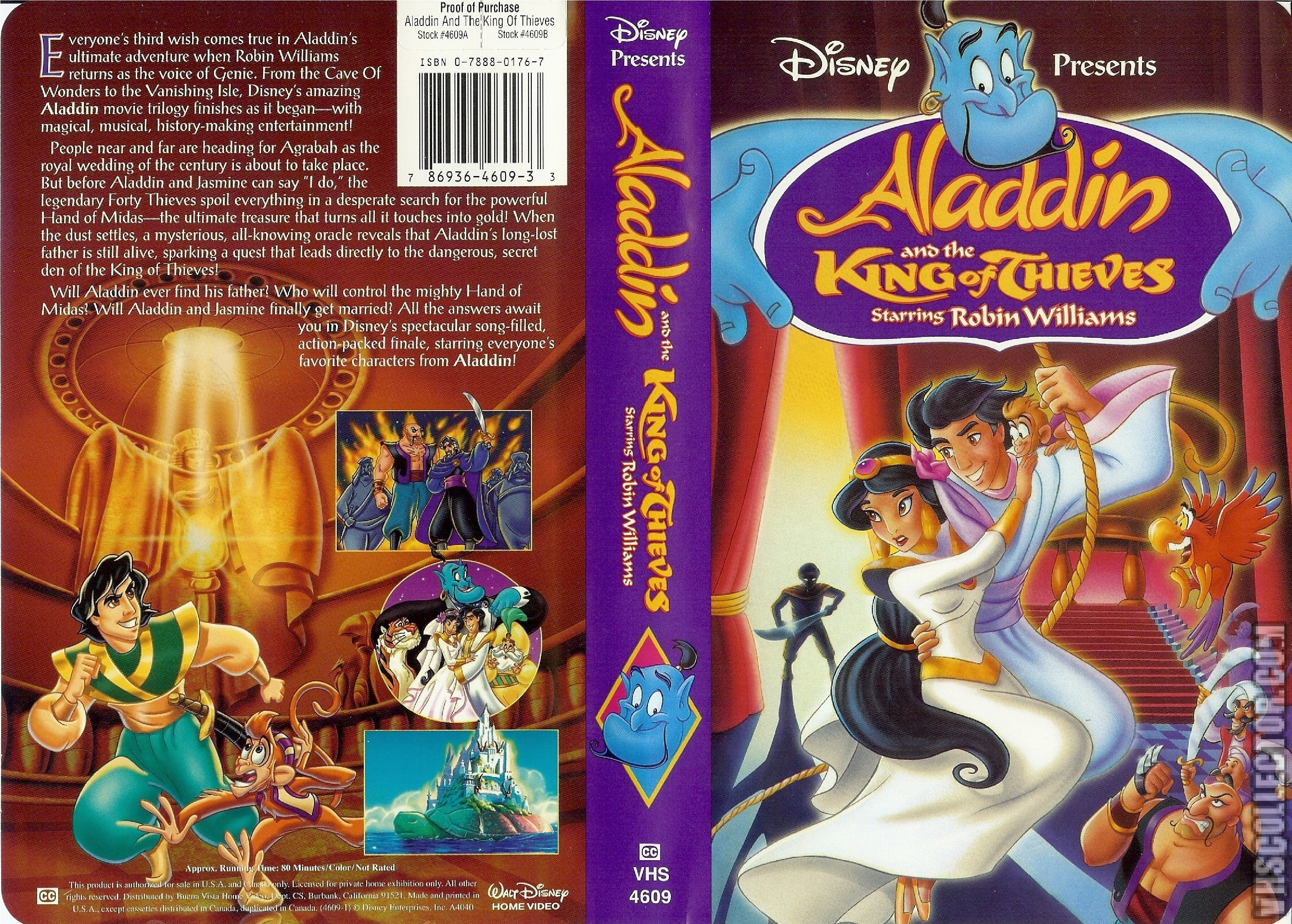 Aladdin and the King of Thieves VHS 1996