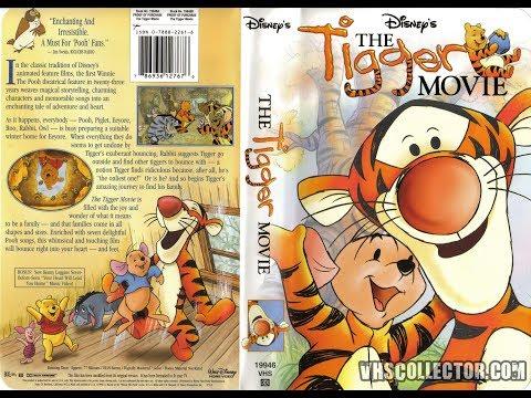 The Tigger Movie 2000 VHS