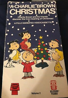 A Charlie Brown Christmas VHS 1987