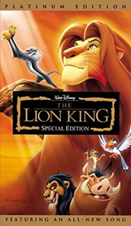 The Lion King: Special Edition VHS 2003