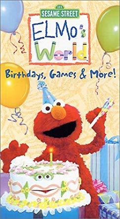 Elmo's World: Birthdays, Games & More! VHS 2005