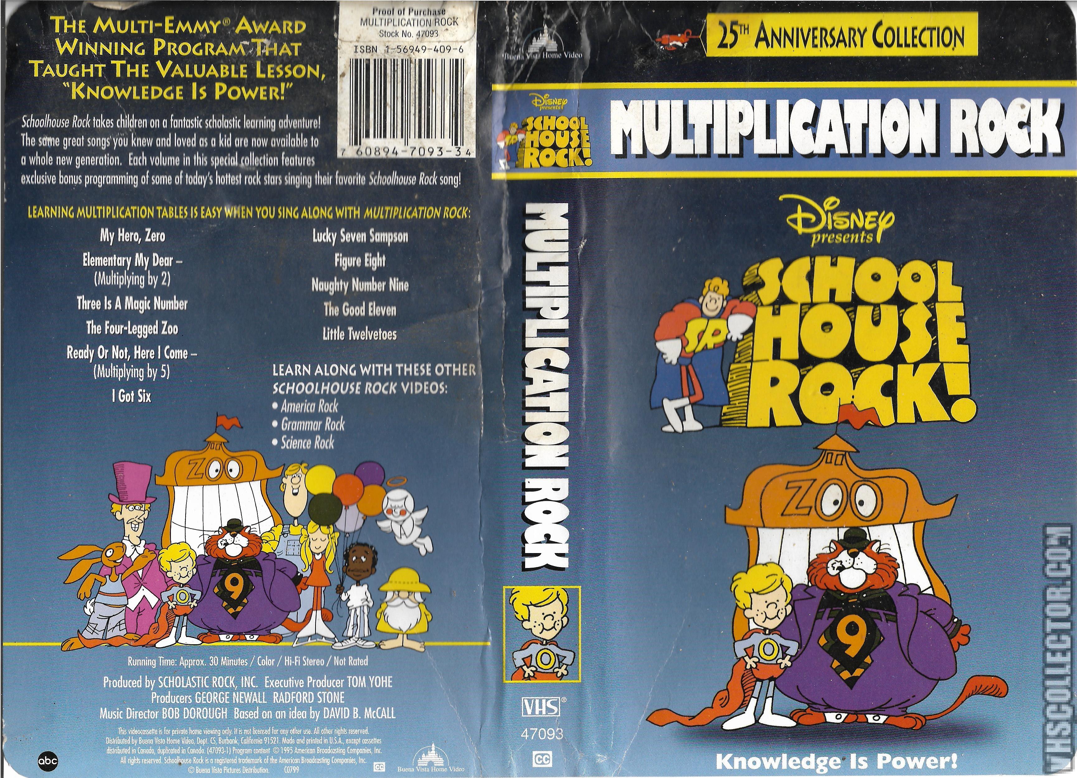 Schoolhouse Rock: Multiplication Rock VHS 2004