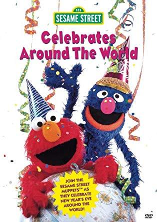 Sesame Street Celebrate Around The World VHS 1999