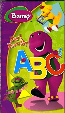 Barney: Now I Know My ABC's VHS 2004
