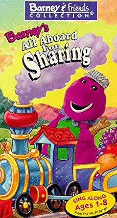 Barney's All Aboard for Sharing VHS 2004
