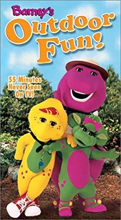 Barney's Outdoor Fun VHS 2003