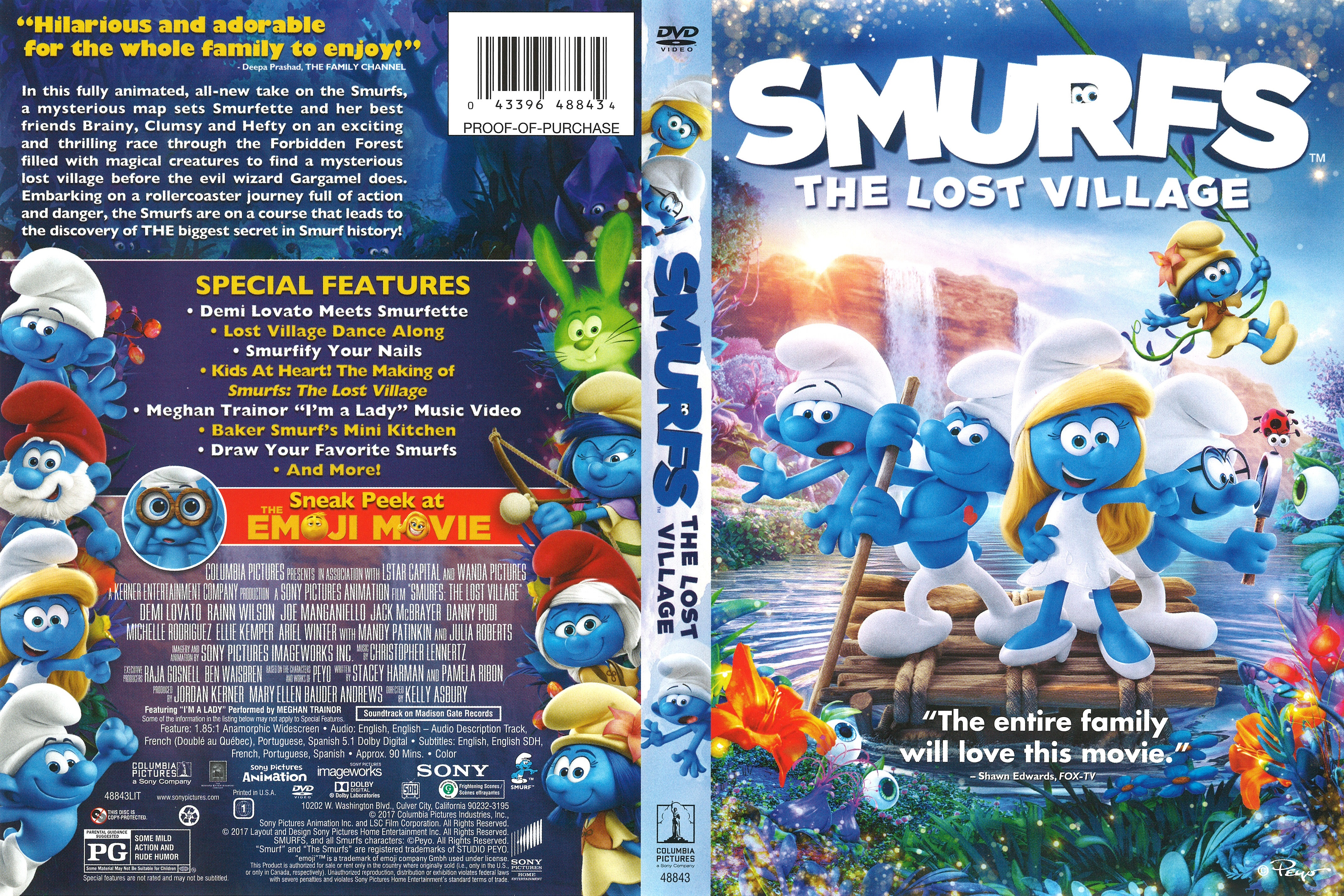 Smurfs: The Lost Village DVD 2017