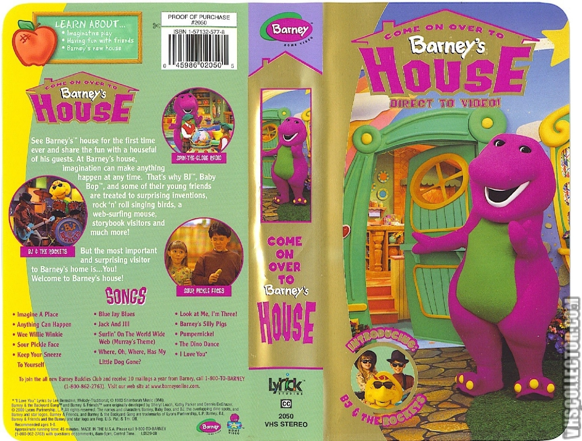 Come on Over to Barney's House VHS 2000