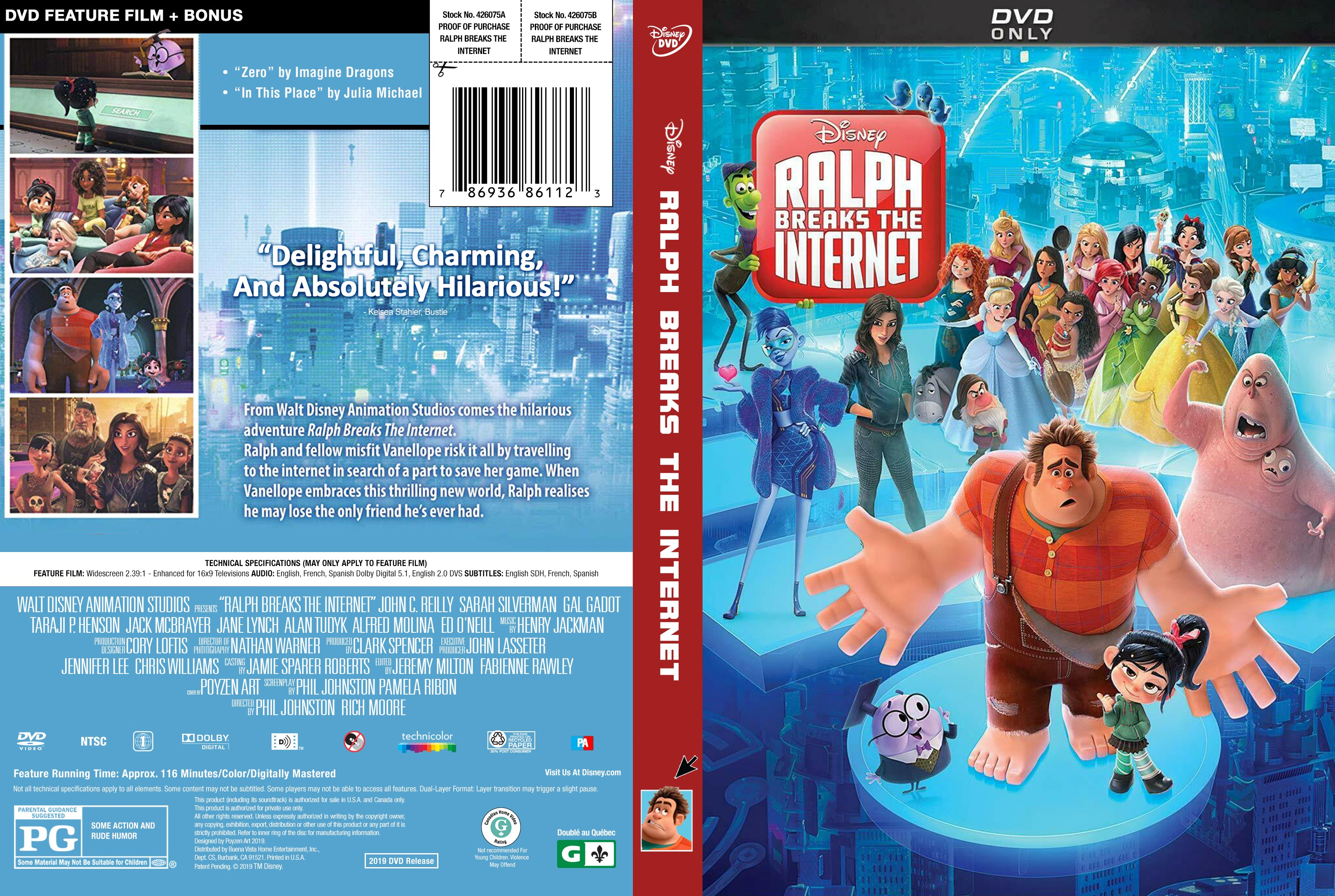 Ralph Breaks the Internet DVD 2019