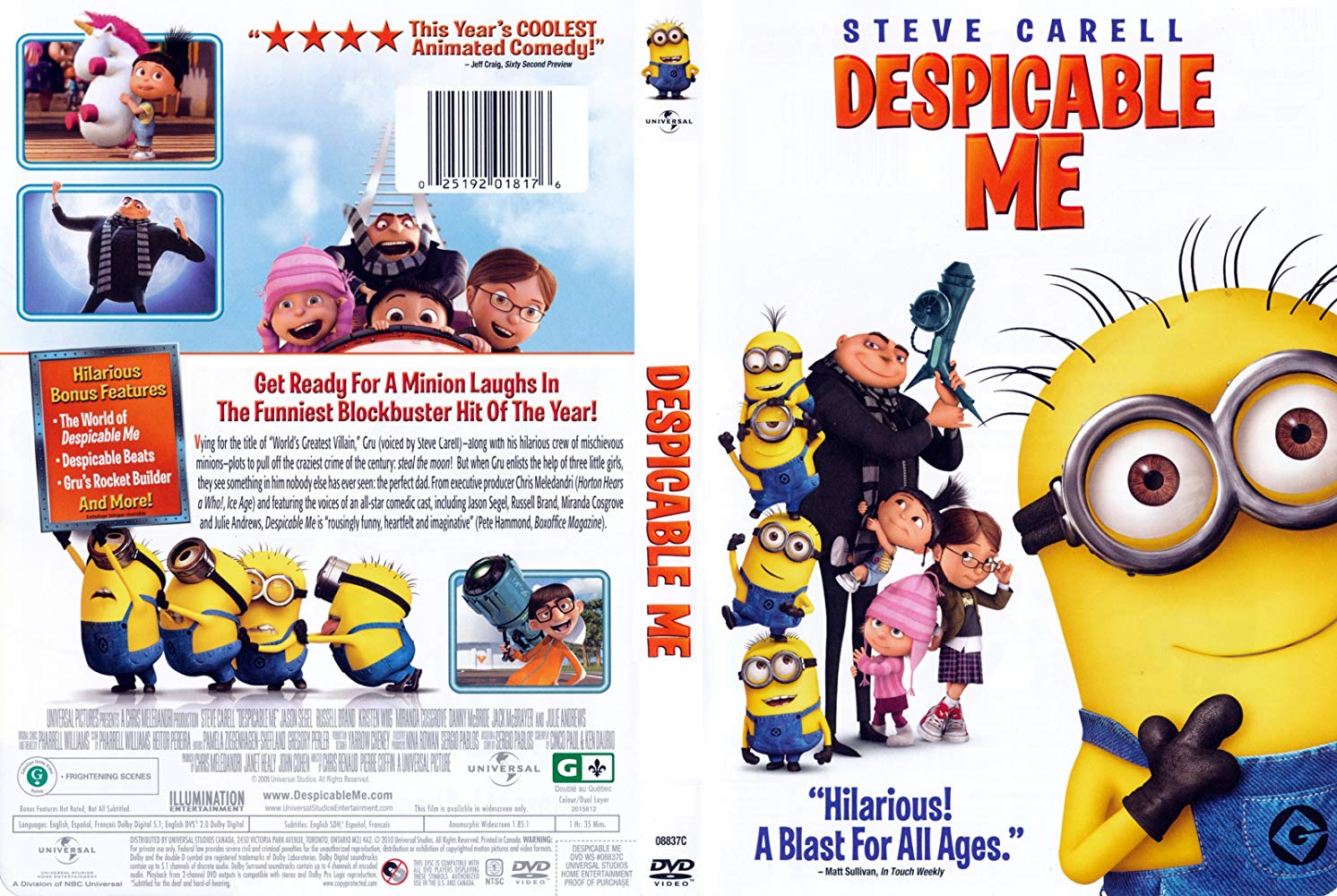 Despicable Me DVD 2010