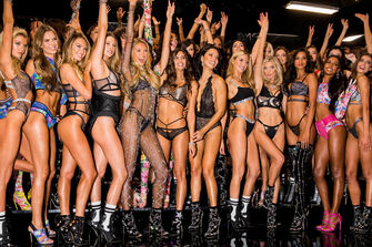 Victoria Secret Angels at the 2018 Victoria Secret Fashion Show in New York.