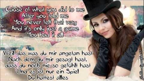 Victoria Justice - Beggin on Your Knees (Übersetzung Lyrics)