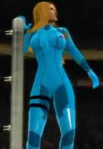 Samus Aran depicted using WWE '13