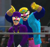 Wario Ware Inc. depicted using WWE 2K14