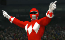 Red Ranger depicted using WWE '13