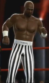 Virgil depicted using WWE 2K14