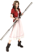 Aerith Gainsborough from FFVII Remake battle render