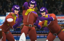 Team HELL YEAH depicted using WWE 2K14