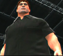 Gabe Newell depicted using WWE 2K14