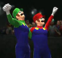 Super Mario Bros. depicted using WWE '13