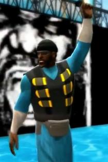 The Demoman depicted using WWE 2K14