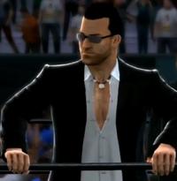 Frank West depicted using WWE 2K14