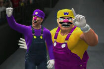 Wario Ware Inc. depicted using WWE '13