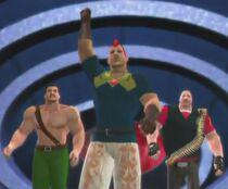 Groose & His Gang of Bullys depicted using WWE 2K14