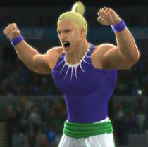 Sabin Rene Figaro depicted using WWE 2K14