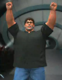 Gabe Newell depicted using WWE '13