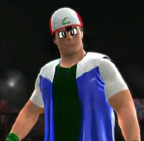 Ash Ketchum depicted using WWE '13